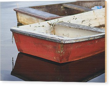 Red Dingy Wood Print