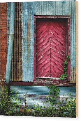 Wood Print featuring the photograph Red Door by James Barber