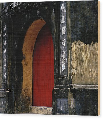 Red Doorway Wood Print