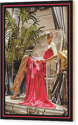 Wood Print featuring the photograph Red Dress - Chuck Staley by Chuck Staley