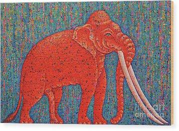 Red Elephant  Wood Print by Opas Chotiphantawanon