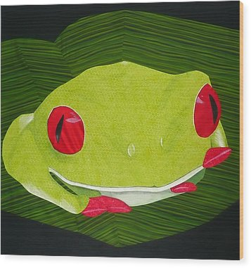 Red Eyed Tree Frog Wood Print
