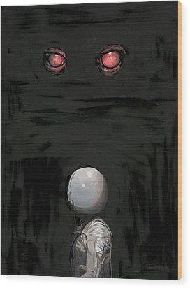 Red Eyes Wood Print by Scott Listfield