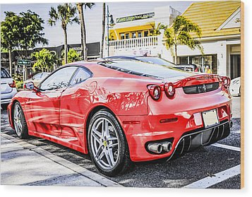 Red Ferrari Wood Print