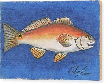 Red Fish Wood Print