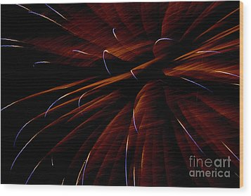 Red Flare Wood Print by Jeannie Burleson