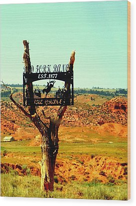Wood Print featuring the photograph Red Fork Ranch by Antonia Citrino