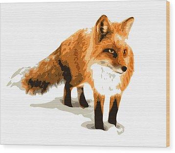 Red Fox In Winter Wood Print by DB Artist