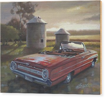 Red Galaxie Wood Print by Todd Baxter