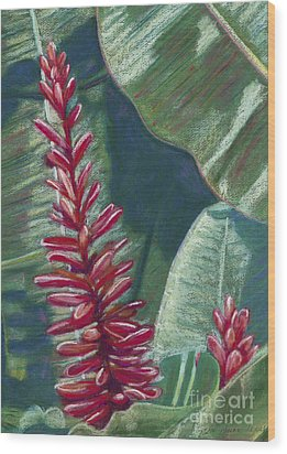 Red Ginger Wood Print by Patti Bruce - Printscapes