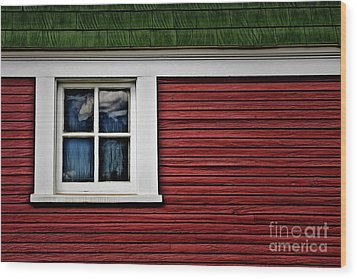 Wood Print featuring the photograph Red Green by Brad Allen Fine Art