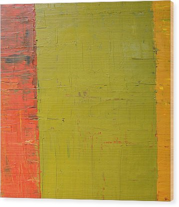 Red Green Yellow Wood Print by Michelle Calkins