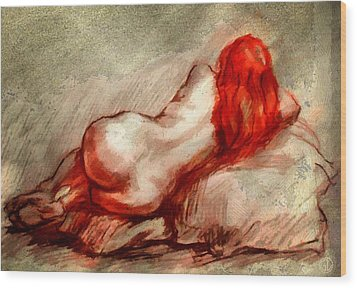 Red Wood Print by Gun Legler