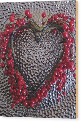 Red Heart  Wood Print