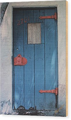 Red Hinges Wood Print