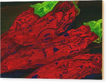 Red Hot Chili 2 Wood Print by Stephen Anderson