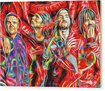 Red Hot Chili Peppers In Color II  Wood Print