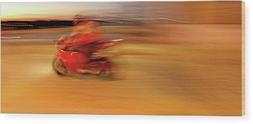 Red Hot Wood Print by Glennis Siverson