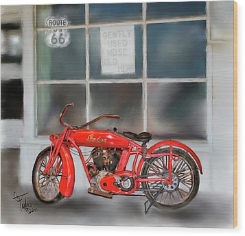 Red Hot Tail Gunner Wood Print by Colleen Taylor