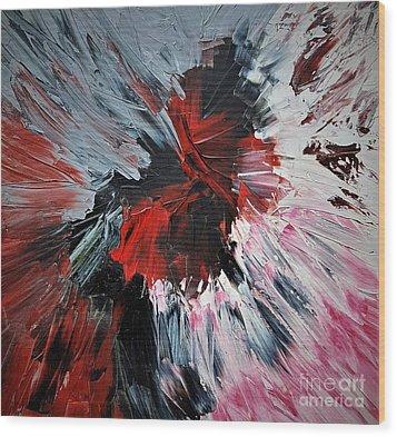 Red Impaso Wood Print