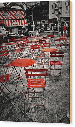 Red In My World - New York City Wood Print