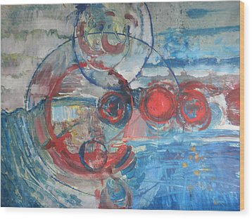 Wood Print featuring the painting Red Infinity by John Fish
