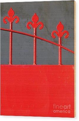 Red Iron Gate Wood Print by Yali Shi