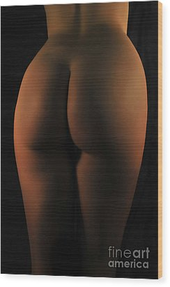 Red Light Bum Wood Print