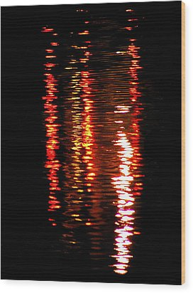 Wood Print featuring the photograph Red Light by David Dunham