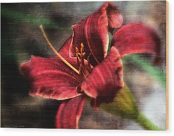 Wood Print featuring the photograph Red Lilly by Michaela Preston