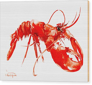 Red Lobster Wood Print by Suren Nersisyan