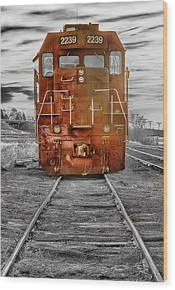 Red Locomotive Wood Print by James BO  Insogna