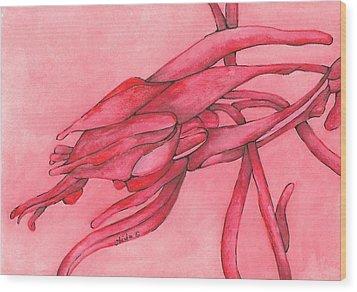 Red Lust Wood Print by Versel Reid