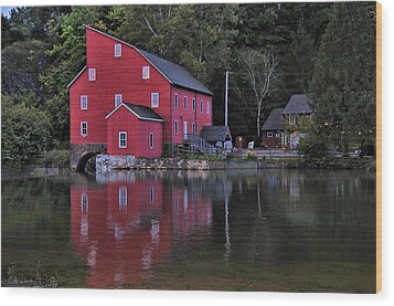 Red Mill Wood Print