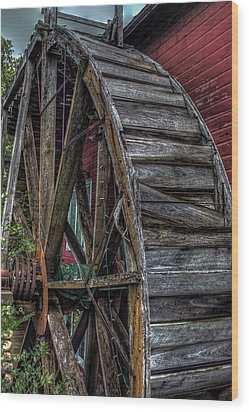 Red Mill Wheel 2007 Wood Print