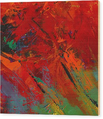 Wood Print featuring the painting Red Mood by Elise Palmigiani