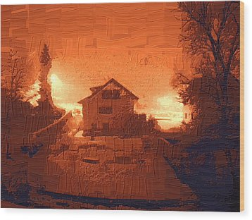 Red Morn Wood Print by Chuck Shafer