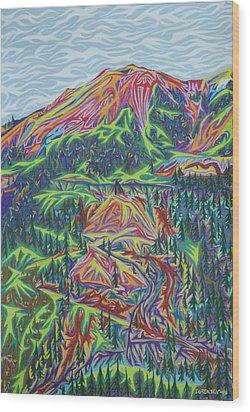 Red Mountain Wood Print by Robert SORENSEN