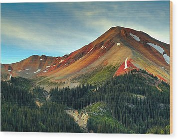 Red Mountain Wood Print by Tim Reaves