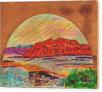 Red Mountain Utah Wood Print by Richard W Linford