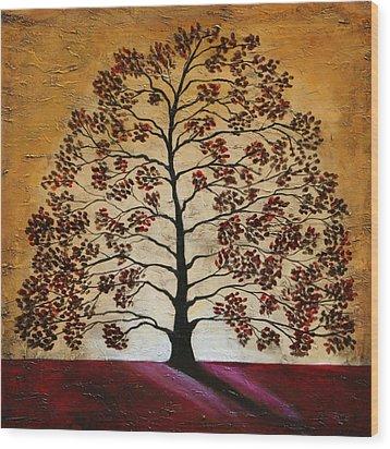 Red Oak Wood Print