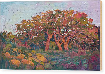 Red Oak Light Wood Print by Erin Hanson