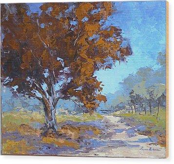 Red Oak Wood Print by Yvonne Ankerman