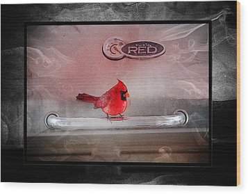Red On Red Wood Print by Ericamaxine Price