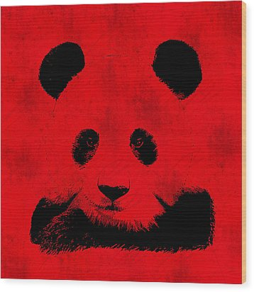Red Panda Wood Print by Laura Brightwood