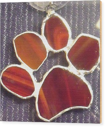 Red Paw  Wood Print by Djl Leclerc