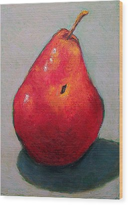 Red Pear Wood Print by Joyce Geleynse
