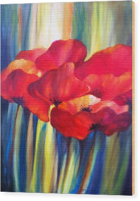 Red Poppies Wood Print by Patricia Lyle