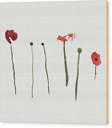 Red Poppies Wood Print by Stephanie Peters