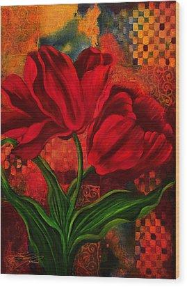 Red Poppy Wood Print by Lynn Lawson Pajunen